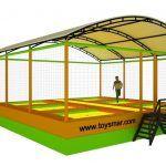 Toysmar Ticari Çatılı Olimpik Trambolin 6 Kişilik