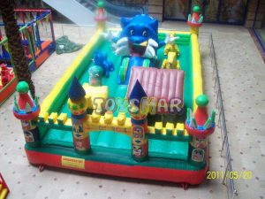Toysmar Şişme Oyun Parkı Mavi Kedi Junior 8x5x3 m