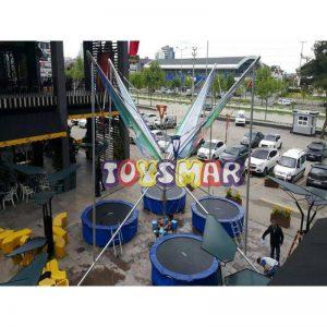 Toysmar Ticari Salto Trambolin 4 Kişilik Alüminyum 305
