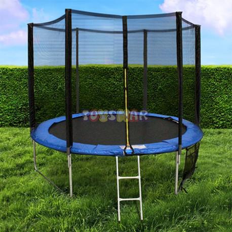 Trampoline 244 cm filet de protection bache de protection echelle filet de ra - Protection trampoline 244 ...