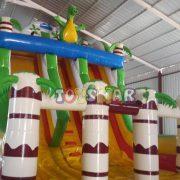 Şişme Oyun Parkı Kaydırak Dino 8x5x7 m