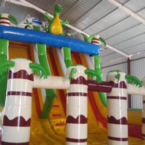 Şişme oyun parkı Kaydırak Dino