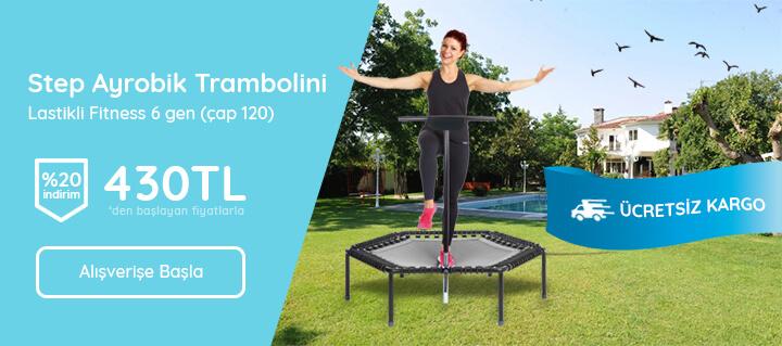 Step Ayrobik Trambolini Lastikli Fitness 6 gen ( çap 120)