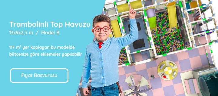 Top Havuzu 13x9x2,5 m Trambolinli Model B
